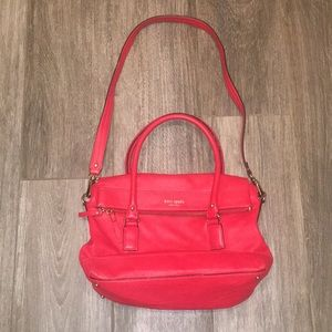 kate spade red leather crossbody bag